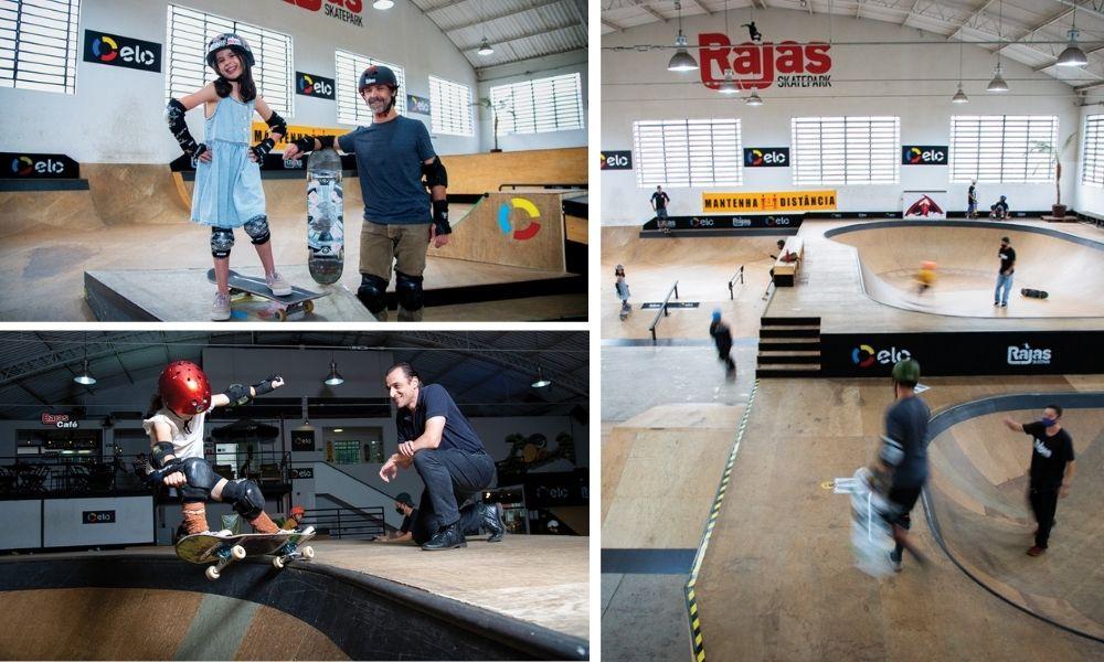 Três fotos das pistas Rajas
