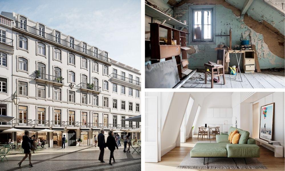 Externo e interno do projeto residencial