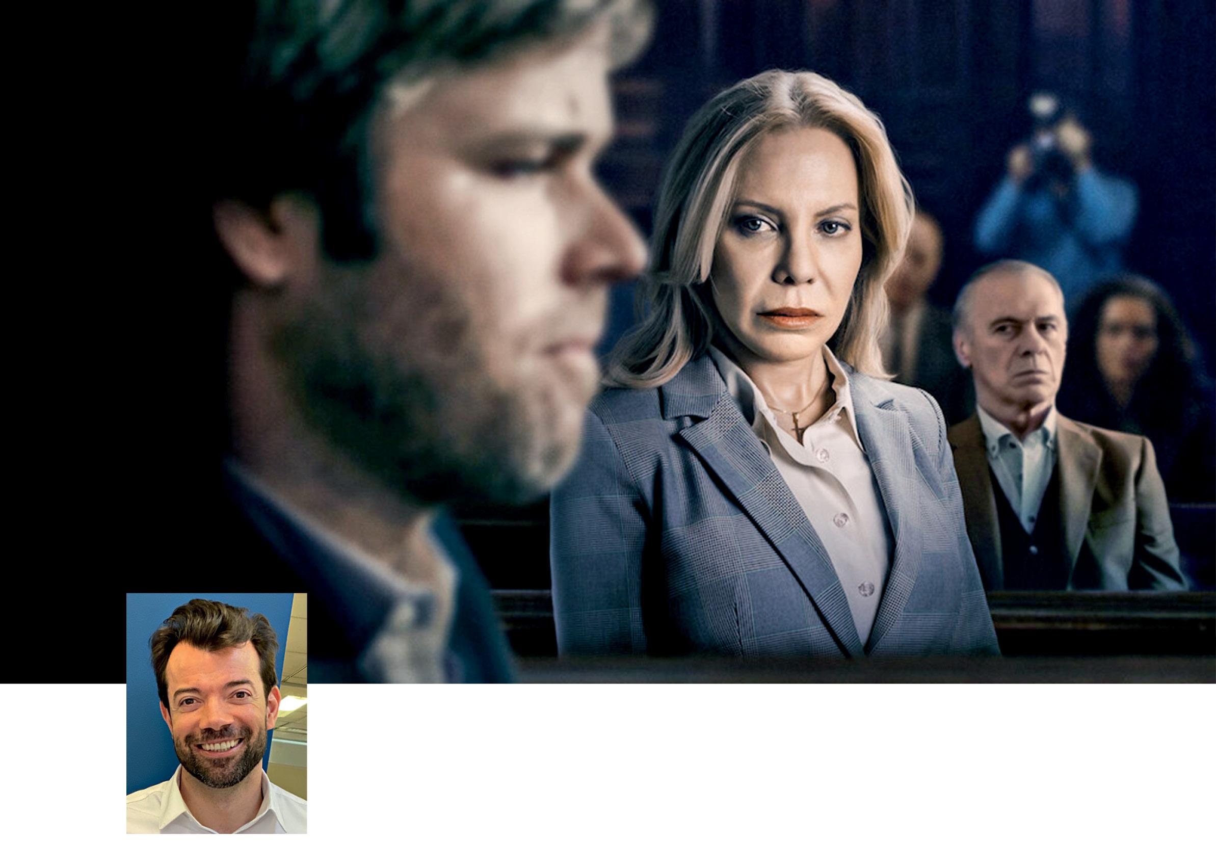 Foto do filme Crimes de Família com uma pequena foto de Raul Juste Lores