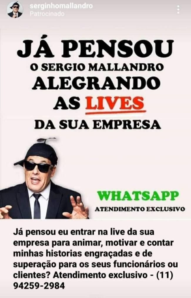 Sergio Mallandro: live corporativa com bom humor