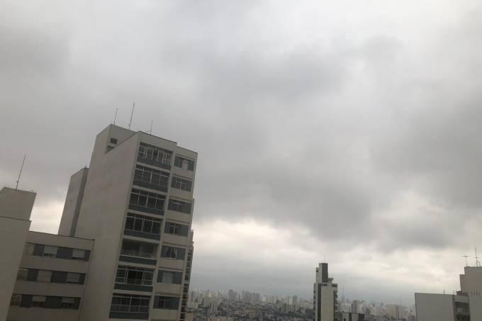 Previsão de tempo nublado