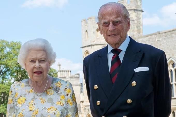 Príncipe Philip e a rainha Elizabeth