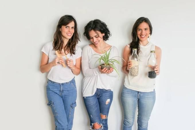Mariana, Maria Carolina e Maria Clara Moraes, do Verdes Marias.
