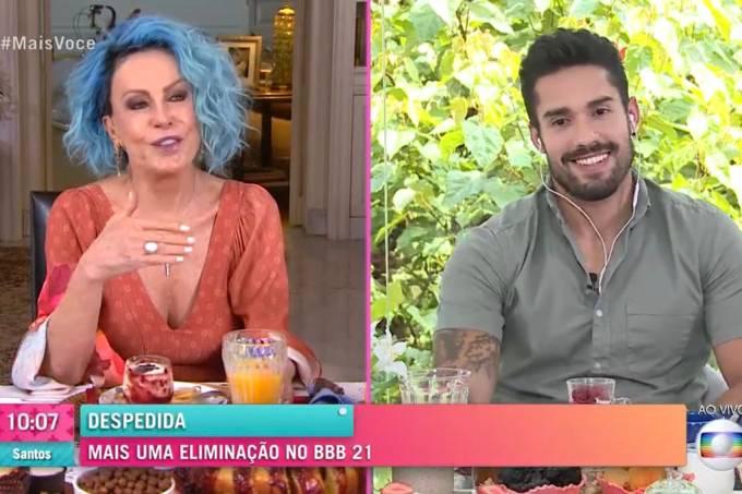 Arcrebiano em entrevista a Ana Maria Braga após eliminação no BBB