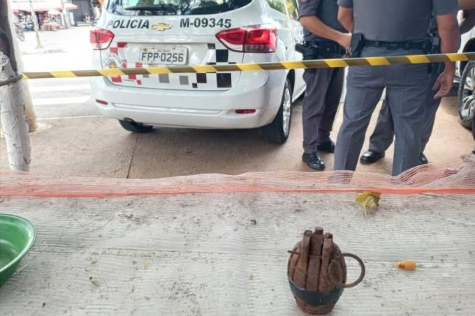 Homem é preso com granada na Zona Norte de São Paulo (Divulgação-Polícia Militar)