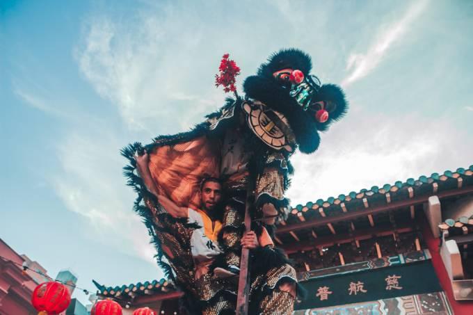 Dança do dragão – Templo Lohan