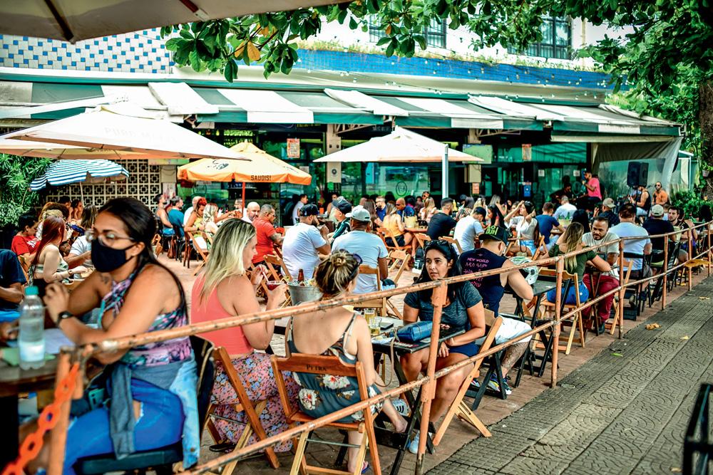 Bar em Santana, ao ar livre