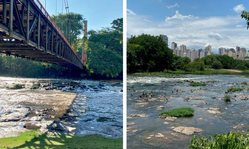 Imagens do rio em Piracicaba