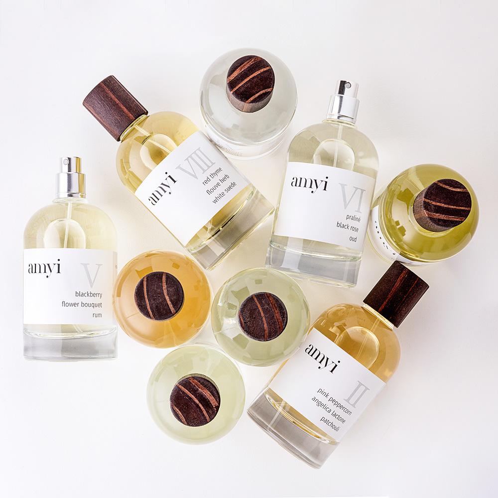 frascos de perfume da amyi