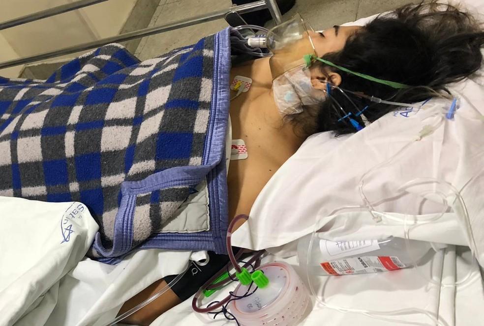 Talyssa Oliveira Taques internada em hospital do Rio