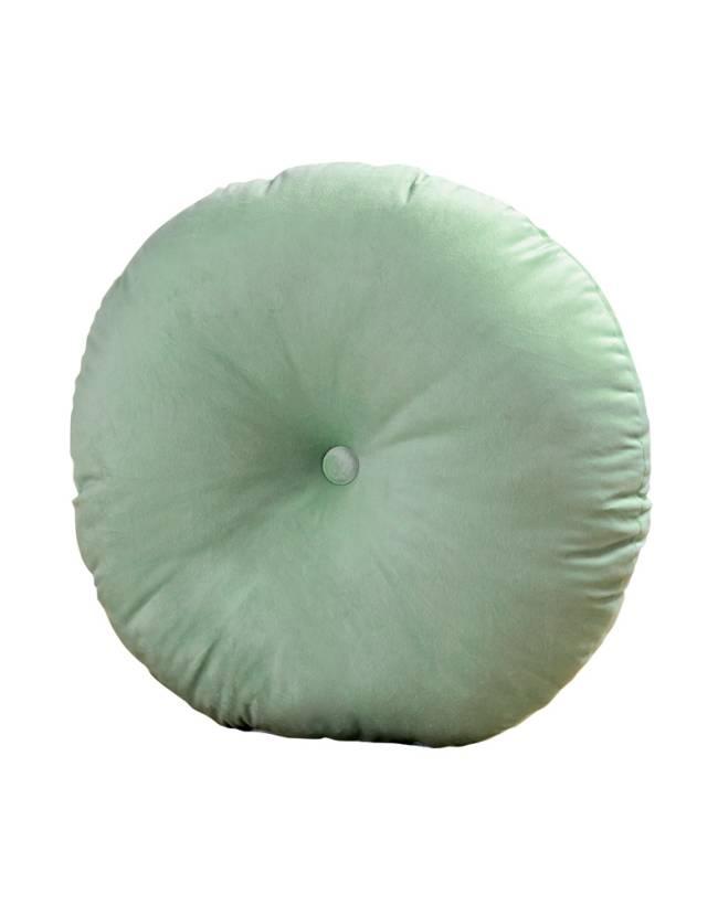 Almofada redonda de veludo 50 cm. Amaro.