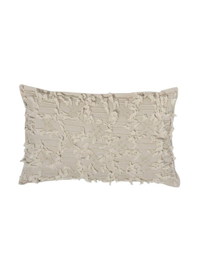 Almofada retangular bordada. Le Lis Blanc.