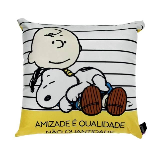 Almofada Snoopy Amigos 40x40 cm. Camicado. camicado.com.br