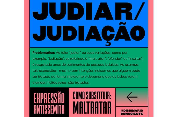 Expressão antissemita: pode ser substituído pela palavra maltratar