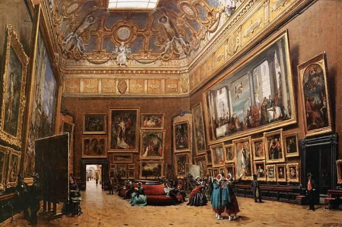 800px-Giuseppe_Castiglione_-_View_of_the_Grand_Salon_Carré_in_the_Louvre_-_WGA4552