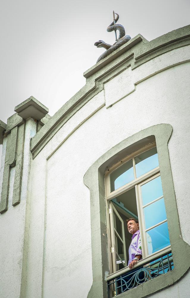 Foto do Museu Biológico, com Puorto na janela