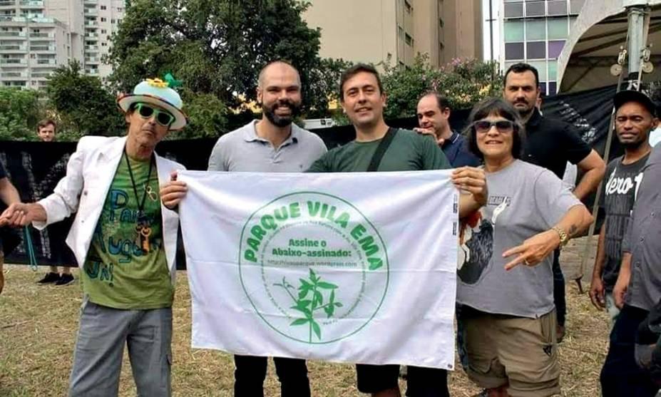 """Bruno Covas em terreno na Vila Ema: """"filho"""" do Parque Augusta"""