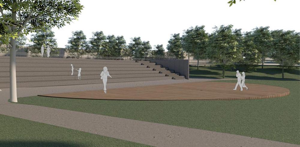 Projeto da arquibancada no Parque Augusta