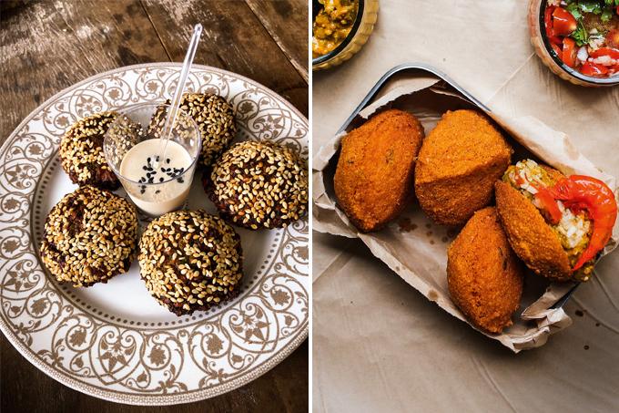 Faláfel e acarajé