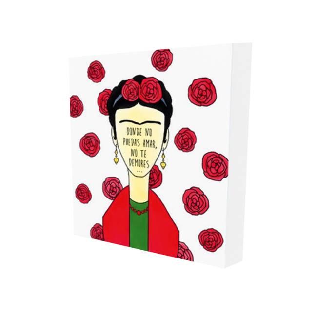 Quadro Frida Kahlo Decormob. 16x16 cm. Americanas