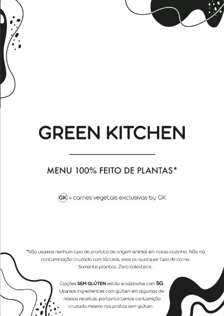 Green Kitchen Cardápio