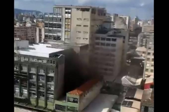 incendio prédio folha