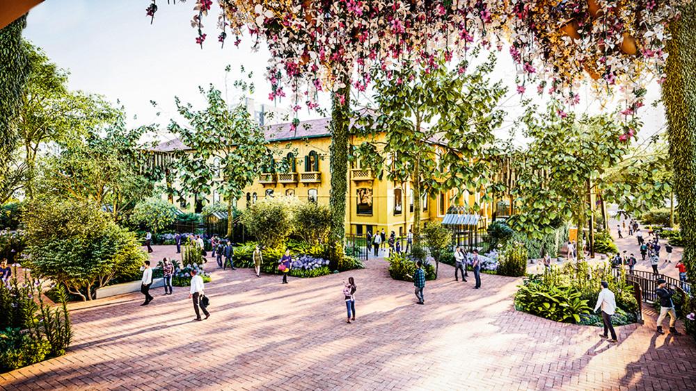 Projeção do Parque das Flores