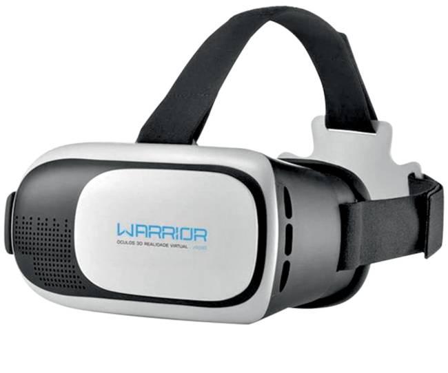 Óculos de realidade virtual. O visor é como uma caixa