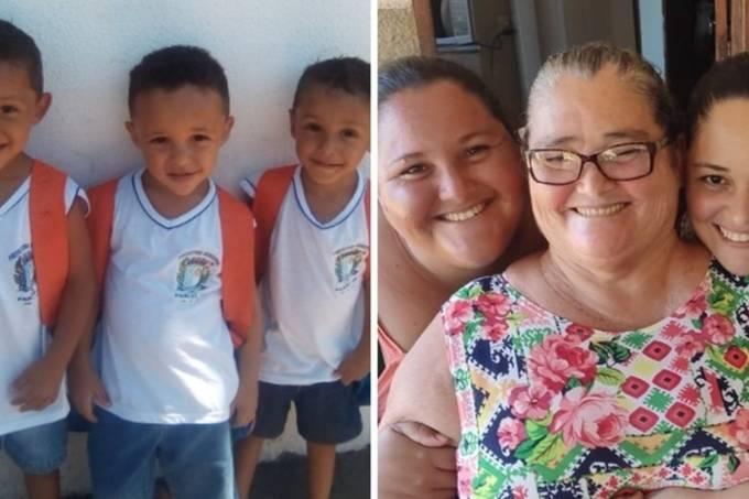 Trigêmeos perdem pai em acidente e mãe para a Covid-19
