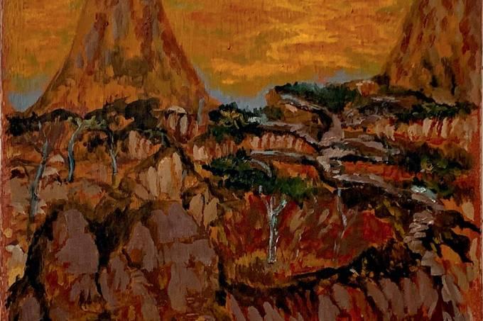 David Almeida. Duas montanhas. 2020. óleo sobre madeira preparada com bolo armênio. 25 x 30 cm (1).jpg