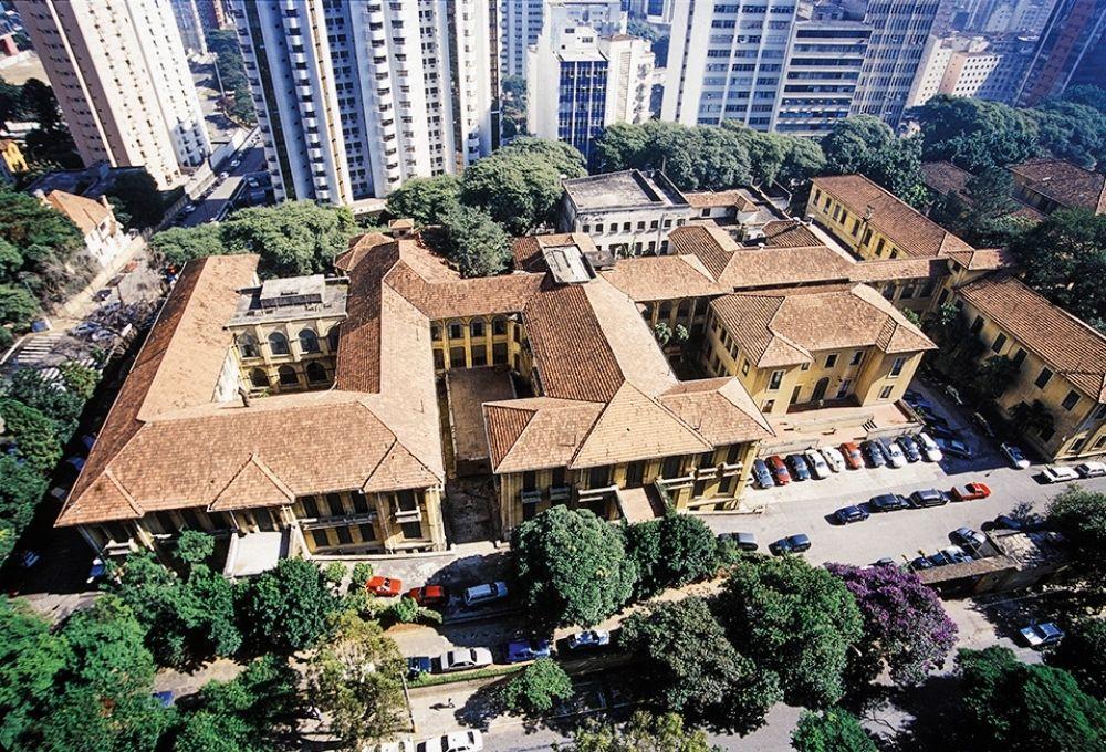 Vista aérea do Cidade Matarazzo, que contém os desativados Hospital Umberto Primo e maternidade Condessa Filomena Matarazzo