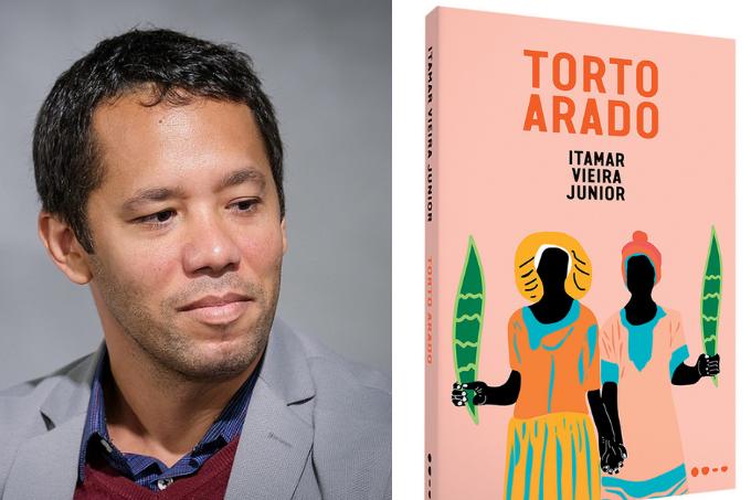Itamar Vieira Junior e a capa do livro Torto Arado