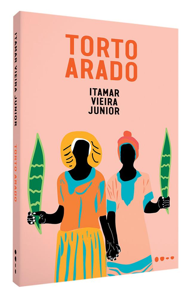 Capa de Torto Arado (Todavia). Mostra uma ilustração de duas mulheres negras segurando duas plantas espada-de-santa-barbara