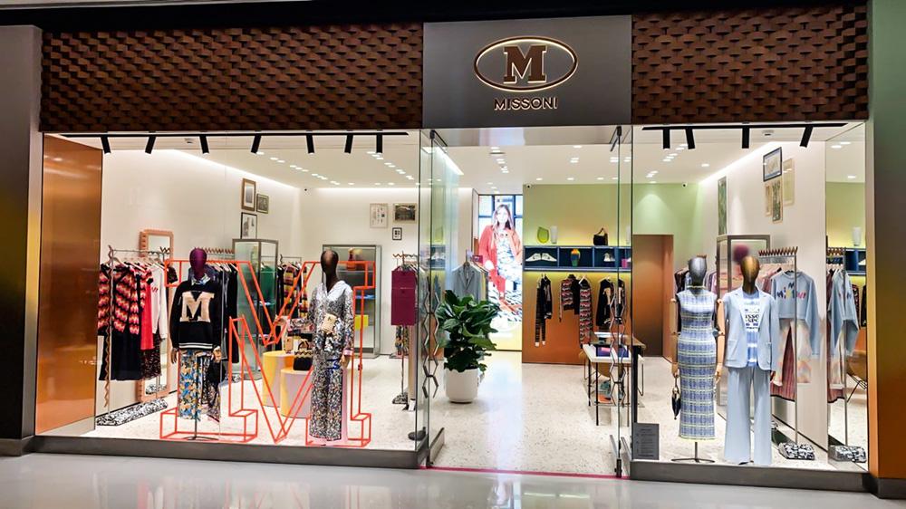 Fachada de loja M missoni