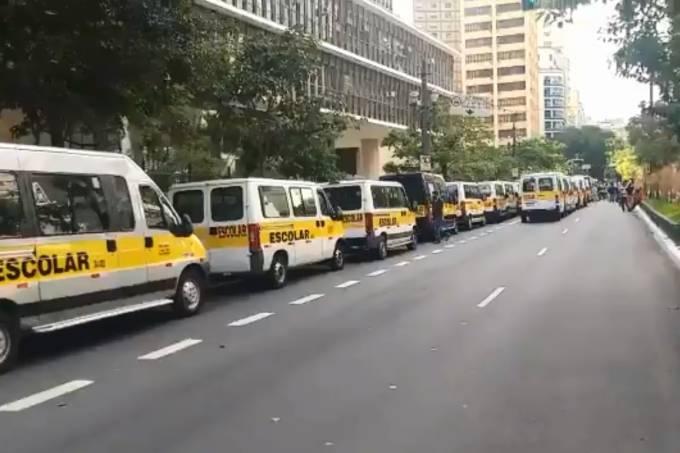 Protesto Motoristas Vans Escolares