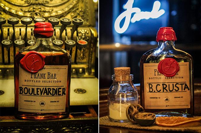 Drinques engarrafados do Frank Bar