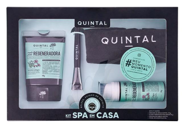 Caixa preta que acompanha produtos do kit spa em casa da Amaro, vem com argila preta, pincel, toalha