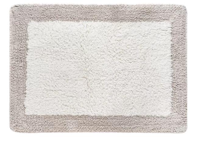 Tapete de banheiro retangular em tons de cinza
