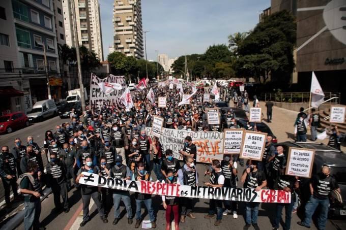 Protesto Metroviários Maio
