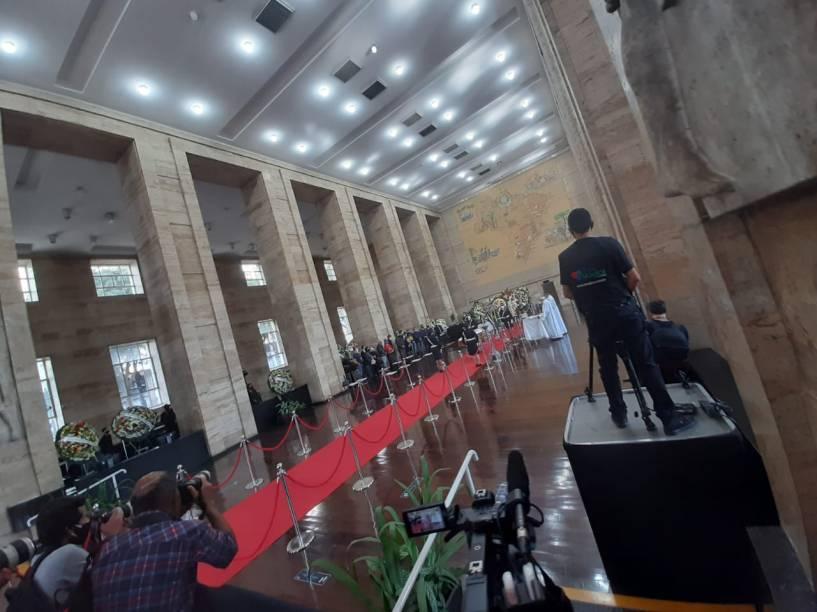 Cerimônia de despedida de Bruno Covas na prefeitura