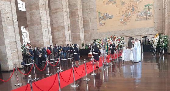 Cerimônia de despedida de Bruno Covas na sede da prefeitura
