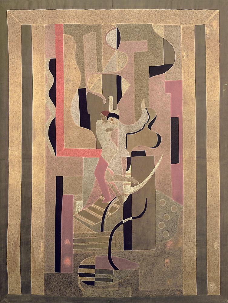 pintura composição com figuras, de john graz e regina gomide