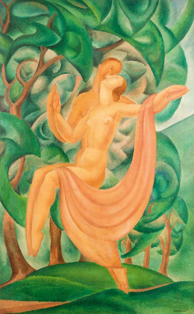 pintura o encontro, de antionio e regina gomide