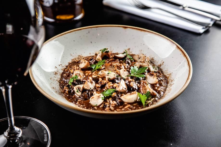 Risoto de cogumelos: com toque ácido agradável ao paladar