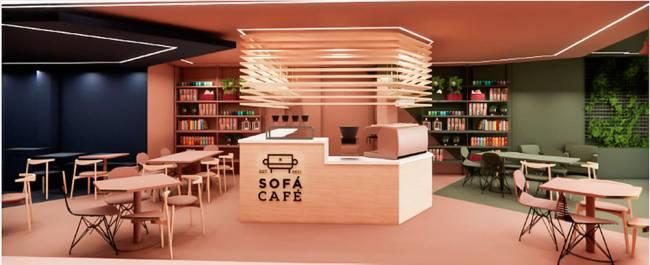 Projeto do Sofá Café na Vila Buarque.