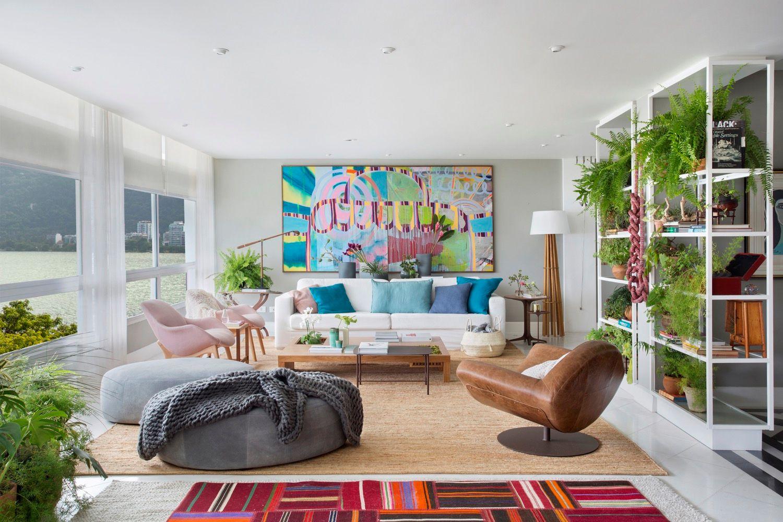 No Rio, apartamento tem plantas por todos os lados