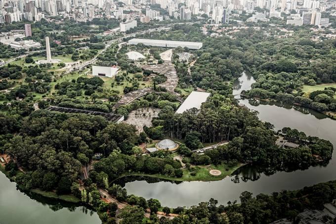 Vista Aérea do Parque Ibirapuera.