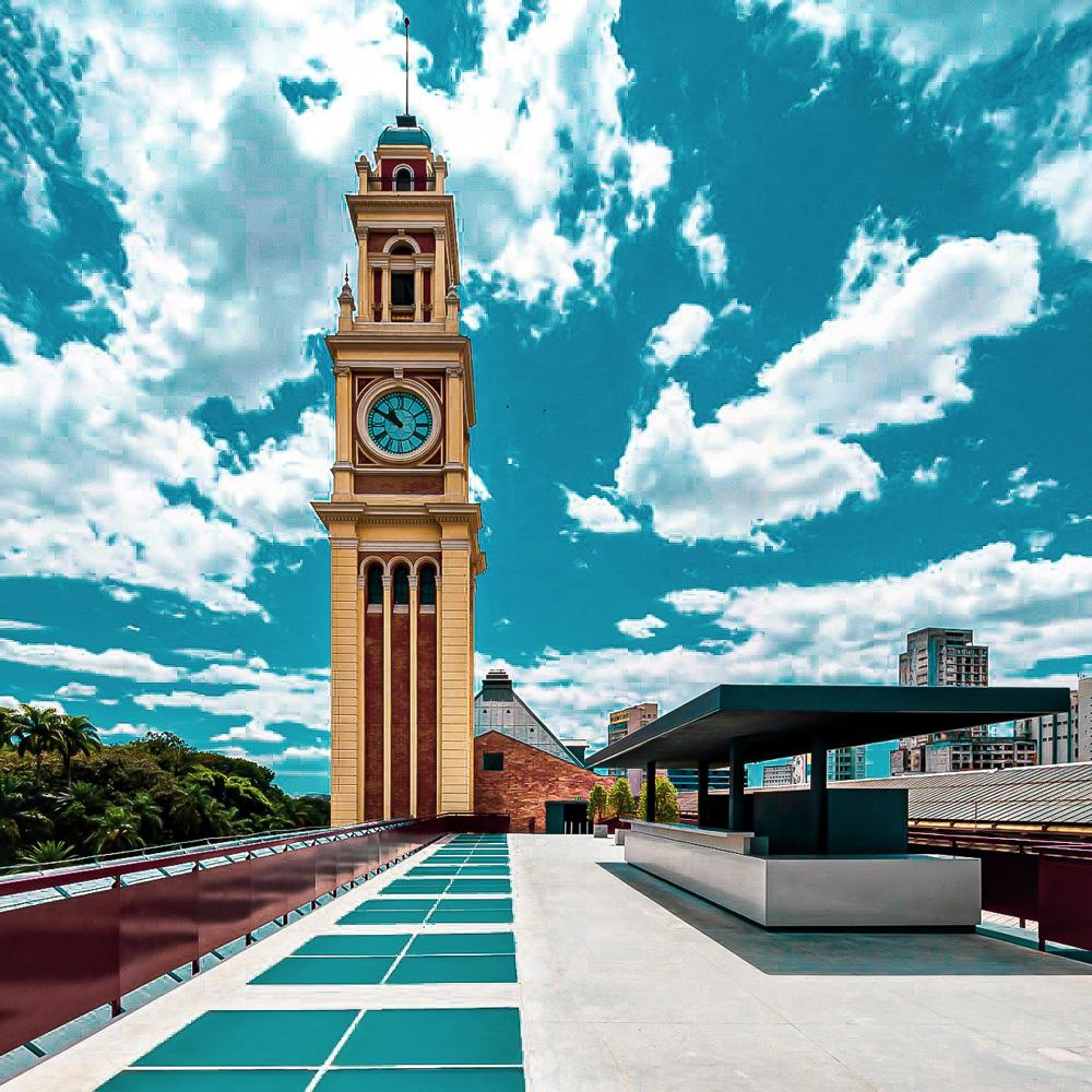 foto do terraço revitalizado do museu da língua portuguesa