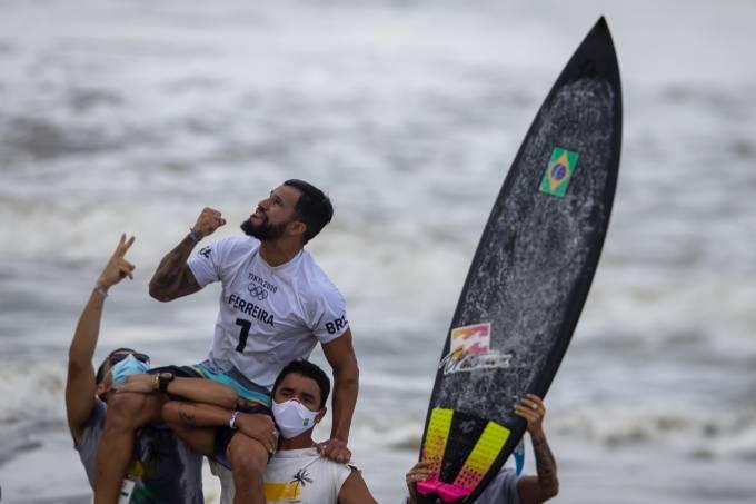 Ítalo Ferreira: medalha de ouro para o Brasil no surfe
