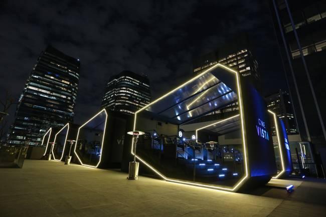 Cápsula de cinema no Cine Vista, do JK Iguatemi: capacidade de até seis pessoas